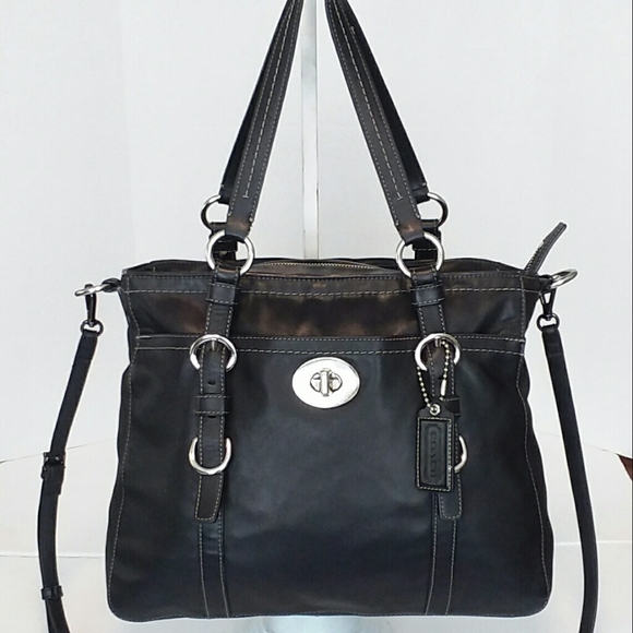 Coach Handbags - Coach Black Leather Chelsea Tote Large
